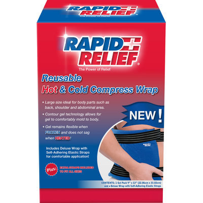 Rapid Aid Rapid Relief Hot and Cold Deluxe Reusable Back 1 Ct (22.86cm x 33.02cm)