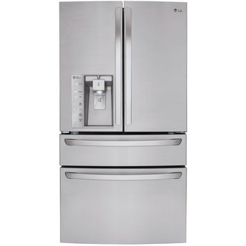 Lg - 29.9 Cu. Ft. 4-door French Door Refrigerator With Thru-the-door Ice And Water - Stainless-steel