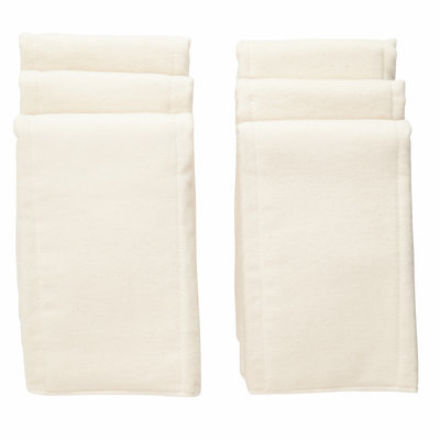 NuAngel Natural Cotton Pre-fold Diapers, 6 ct