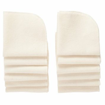 NuAngel Natural Cotton Washable Wipes, 12 sheets