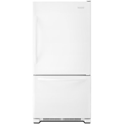 KitchenAid Architect Series II KBWS22KCWH 22 cu. ft. Freestanding Bottom-Freezer Refrigerator with Produce Preserver, Automatic Ice Maker, Humidity Controlled Crispers, Reversible Door Swing and Star-K Certified: White