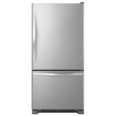 Whirlpool WRB329DMBM 18.5 cu. ft. Bottom-Freezer Refrigerator with Freezer Drawer, Humidity Controlled Crispers, SpillGuard Glass Shelves, FreshFlow Produce Preserver and Adaptive Defrost: Stainless Steel