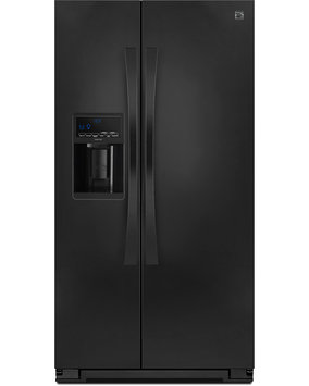 Kenmore Elite 23 cu. ft. Counter Depth Side by Side Refrigerator w/ SmartSense Black - 883049