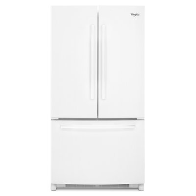 Whirlpool WRF540CWBW 19.6 cu. ft. Counter-Depth French Door Refrigerator with Frameless Glass Shelves, Adjustable Gallon Door Bins, Interior Water Dispenser, Freezer Drawer and Adaptive Defrost: Stainless Steel