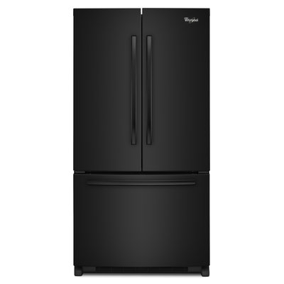 Whirlpool WRF532SMBB 21.7 cu. ft. French Door Refrigerator with Glass Shelves, Gallon Door Bins, Humidity Controlled Crispers, Temperature-Controlled Pantry and LED Lighting: Black
