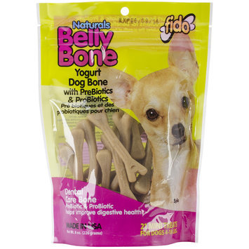 Fido Naturals Belly Bone Yogurt Dog Bone - 21 count