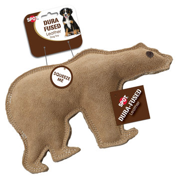 Ethical Products Inc SPOT Dura-Fused Leather Bear Dog Toy