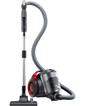 Samsung Bagless Canister Vacuum with 2-Step Air Driven Brush Color: Vitality Red