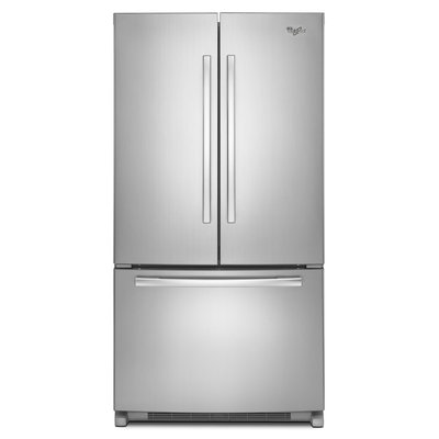 Whirlpool WRF532SMBM 21.7 cu. ft. French Door Refrigerator with Glass Shelves, Gallon Door Bins, Humidity Controlled Crispers, Temperature-Controlled Pantry and LED Lighting: Stainless Steel