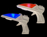 WeGlow International 18MB1A Flashing Mini Space Blaster With Sound Assorted - Set Of 6