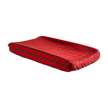 My Baby Sam Trend Lab Northwoods Buffalo Check Changing Pad Cover