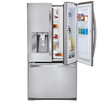 Lg - Door-in-door 29.9 Cu. Ft. 4-door French Door Refrigerator With Thru-the-door Ice And Water - Stainless-steel