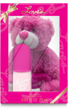 Dana Classic Fragrances Baby Soft Bear - Pink, 0.69 Oz.