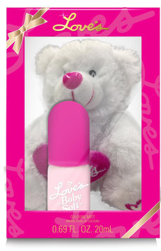 Dana Classic Fragrances Baby Soft Bear - White, 0.69 Oz.