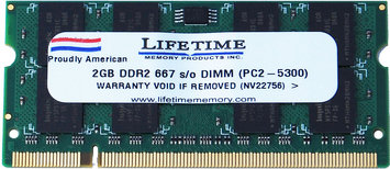 Waterbury Garment 2GB ddr2 667/5300 sodimms