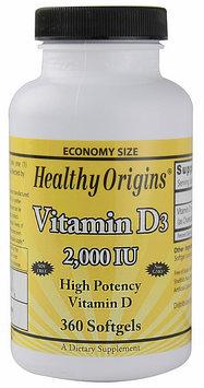 Healthy Origins Vitamin D3 2000 IU - 360 Softgels