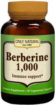 Only Natural Berberine 1000 mg - 50 Vegetarian Capsules