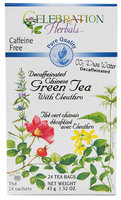Celebration Herbals Chinese Green Tea with Eleuthro Decaffeinated 24 Tea Bags