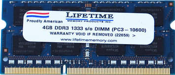 Waterbury Garment 4GB ddr3 1333/10600 sodimms