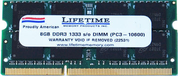 Waterbury Garment 8GB ddr3 1333/10600 sodimms