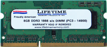 Waterbury Garment 8GB ddr3 1866/14900 so dimms
