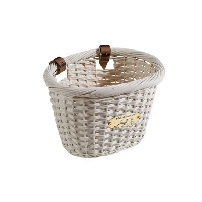 Ntucket Bike Basket Co. Nantucket Bike Basket Company Cliff Road Collection (Adult Oval, White)