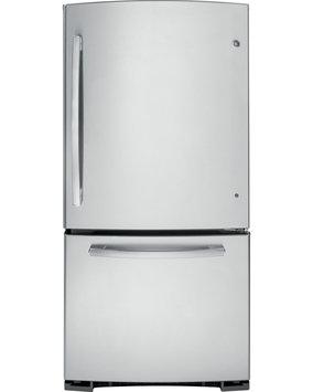 GE GDE23GSHSS 23.2 Cu. Ft. Stainless Steel Bottom Freezer Refrigerator - Energy Star