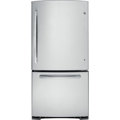 GE GDE23GSHSS 23.2 Cu. Ft. Stainless Steel Bottom Freezer Refrigerator - Energy Star