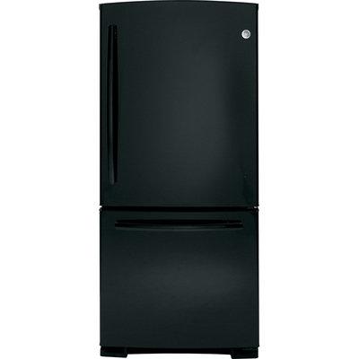 GE GDE23GGHBB 23.2 Cu. Ft. Black Bottom Freezer Refrigerator - Energy Star