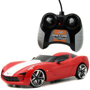 Big Time Muscle 96970 2009 Corvette Stingray Concept RC, Red