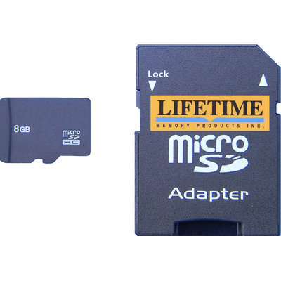 Lifetime Memory Micro-SD Micro Secure Digital Card (8GB)