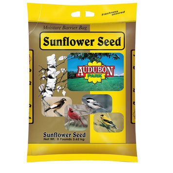 Audubon Park Sunflower Seed Wild Bird Food 8 Pound Bag - MILLS BROS. INTERNATIONAL, INC