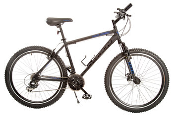 Taiwan New Idea Service Enter. Titan #142 Dark Knight Alloy Men's All Terrain Mountain Bicycle with Front Shock and Disc Brake, 21-speeds, 18-Inch Frame Height
