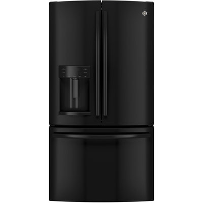 GE GFE28HGHBB 27.7 Cu. Ft. Black French Door Refrigerator - Energy Star