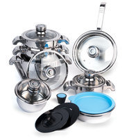 Sierra Accessories BergHOFF Invico Vitrum 16-Piece Cookware Set