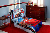 Crown Crafts Infant Products Disney Pixar Cars 4 Piece Toddler Bedding Set - Fastest Cars