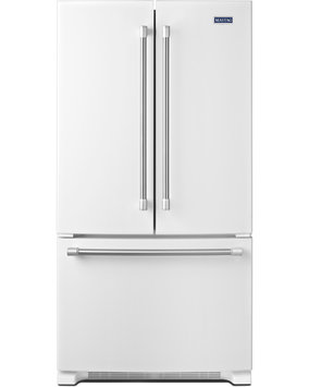 Maytag MFF2558DEH 24.8 Cu. Ft. White French Door Refrigerator - Energy Star
