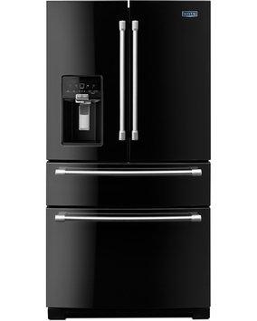 Maytag Refrigerator. 26.2 cu. ft. French Door Refrigerator in Black MFX2876DRE