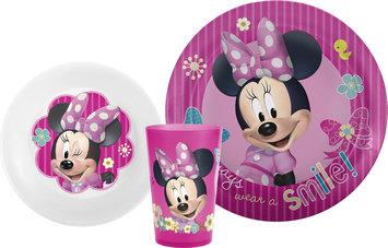 Zak Designs Minnie Mouse Bow-tique 3-Piece Mealtime Gift Set