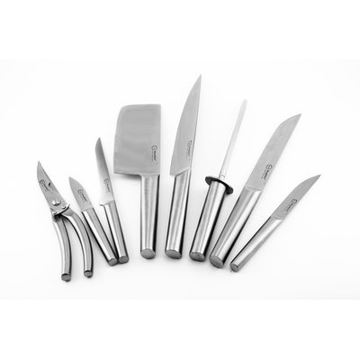 Berghoff International BergHOFF Eclipse 9-Piece Hollow Handle Knife Set with Folding Bag