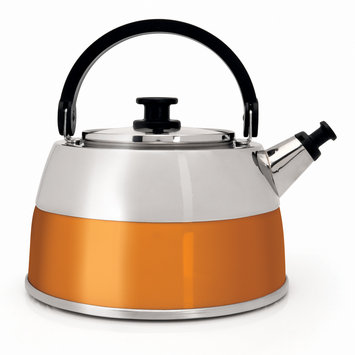 Berghoff International BergHOFF 3-qt. Stainless Steel Whistling Tea Kettle (Orange)