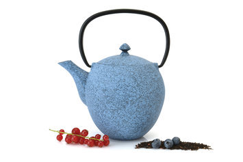 Sierra Accessories Studio Cast Iron Teapot 1.06 qts Blue