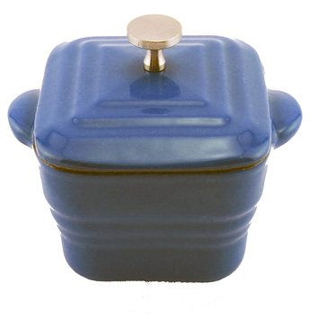 Cast Iron Square Casserole- Blue