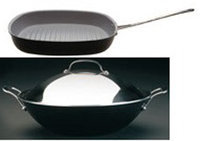 Sierra Accessories BergHOFF 3-Piece Covered Wok and Grill Pan Cookware Set