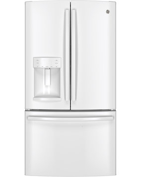 GE GFE26GGHWW 25.7 Cu. Ft. White French Door Refrigerator - Energy Star