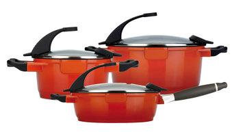 Berghoff International BergHOFF Virgo 6-Piece Cast Aluminum Cookware Set in Orange