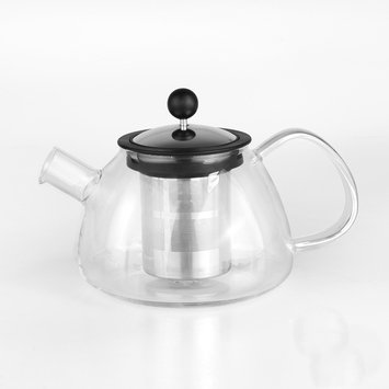 Sierra Accessories BergHOFF 28-oz. Glass Teapot with Infuser (White)