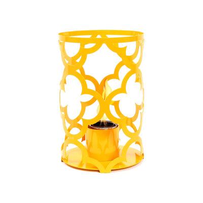 TF Essentials Mediterranean Outdoor Steel Lantern Turmeric, Size: 15 x 10