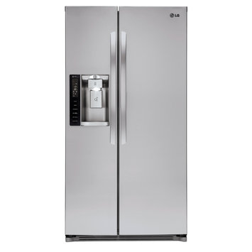 Lg - 26.2 Cu. Ft. Side-by-side Refrigerator With Thru-the-door Ice And Water - Stainless-steel