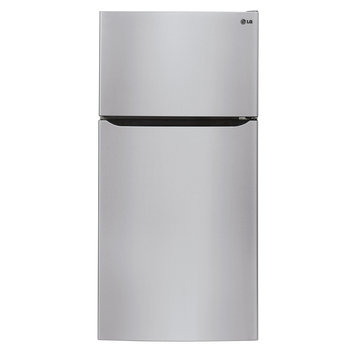 Lg - 20.2 Cu. Ft. Top-freezer Refrigerator With Thru-the-door Ice And Water - Stainless-steel